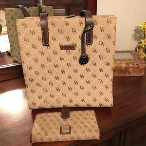 Dooney & Bourke canvas handbag and wallet